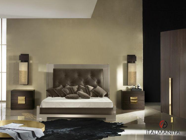 Фото 1 - Спальня Amelihome 3 фабрики Amelihome (производство Италия) в современном стиле из массива дерева
