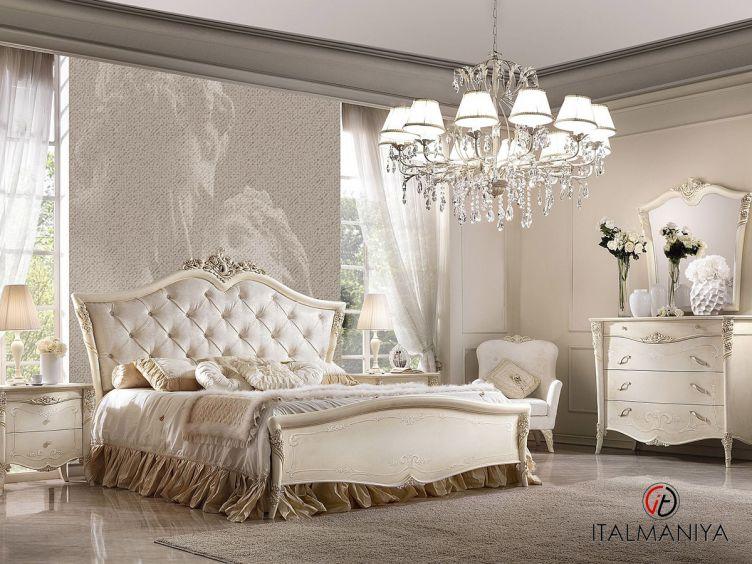 Фото 1 - Спальня Vittoria фабрики Antonelli Moravio (производство Италия) в стиле арт-деко из массива дерева белые