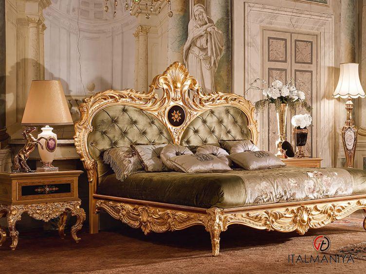 Фото 1 - Спальня Queen Elisabeth фабрики Bacci Stile (производство Италия) в стиле барокко из массива дерева