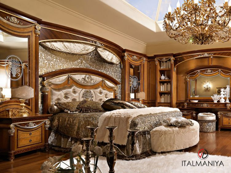 Фото 1 - Спальня Romanica фабрики Bacci Stile (производство Италия) в классическом стиле из массива дерева