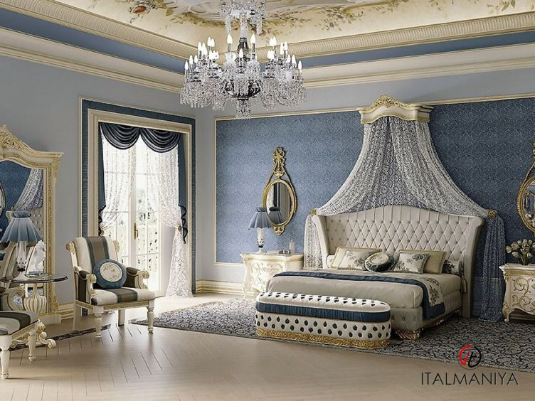 Фото 1 - Спальня Vittoria фабрики Bakokko (производство Италия) в классическом стиле из массива дерева цвета слоновой кости