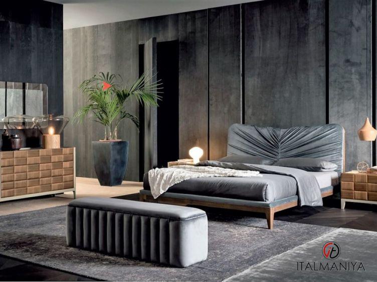 Фото 1 - Спальня Dama фабрики Dall Agnese (производство Италия) в современном стиле из массива дерева цвета орехового дерева