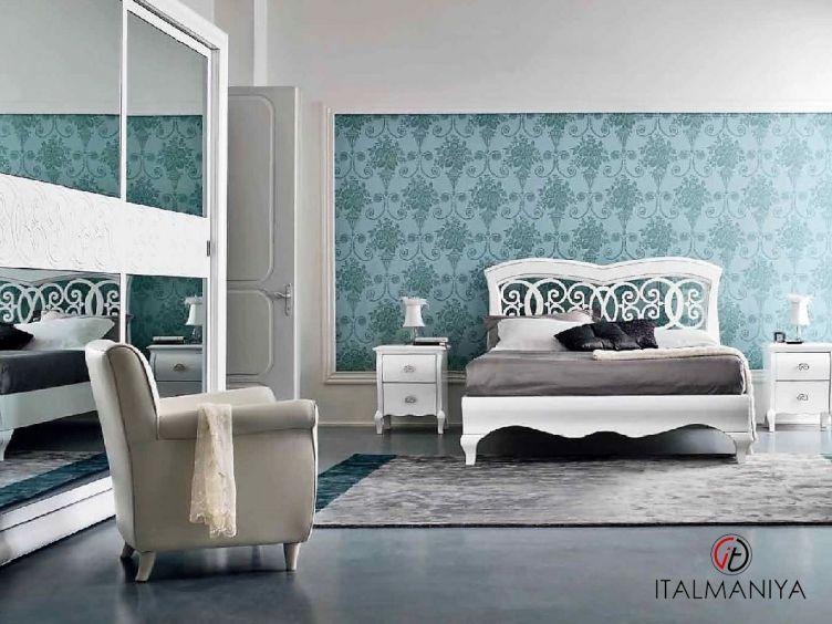 Фото 1 - Спальня Symfonia laccato фабрики Dall Agnese (производство Италия) в классическом стиле из массива дерева белые