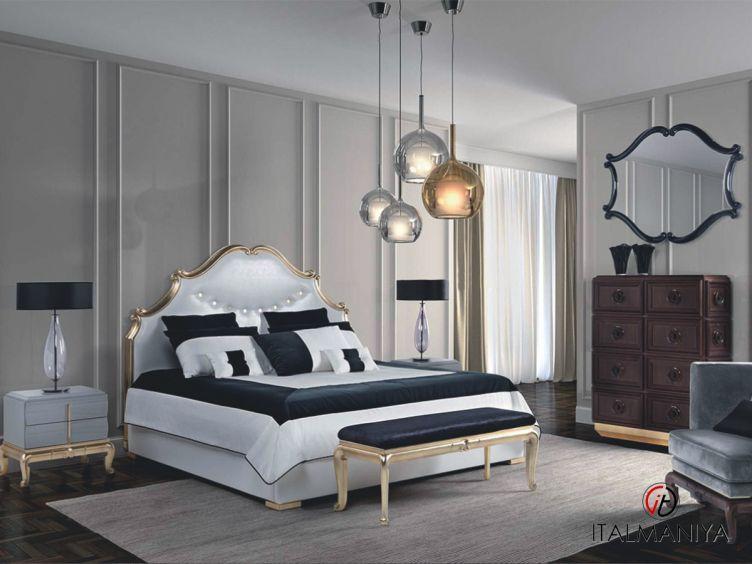 Фото 1 - Спальня Thais фабрики Elledue (производство Италия) в стиле арт-деко из массива дерева