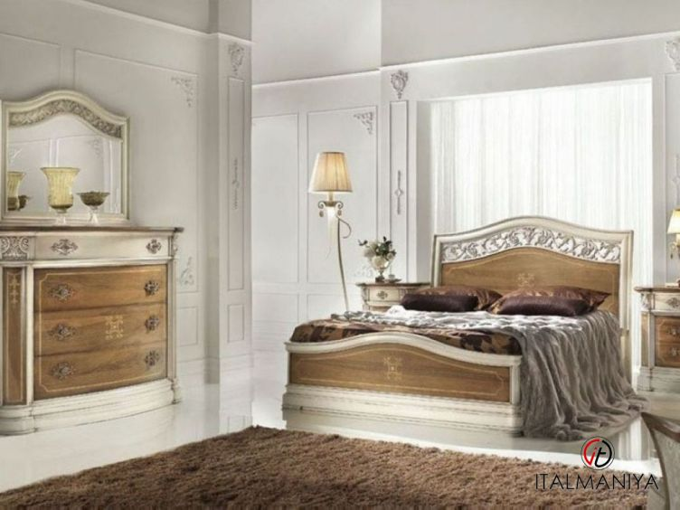 Фото 1 - Спальня Olimpia фабрики Lubiex (производство Италия) в классическом стиле из массива дерева