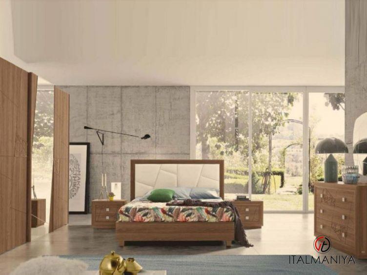 Фото 1 - Спальня Chantal фабрики Mobil Piu (производство Италия) в современном стиле из массива дерева