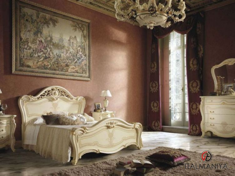 Фото 1 - Спальня Opera фабрики Mobil Piu (производство Италия) в классическом стиле из массива дерева
