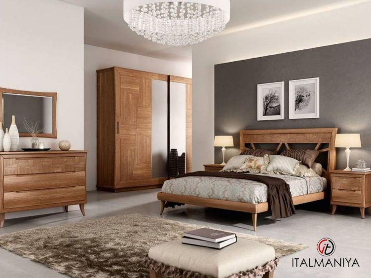 Фото 1 - Спальня Cloe фабрики Pistolesi (производство Италия) в современном стиле из массива дерева