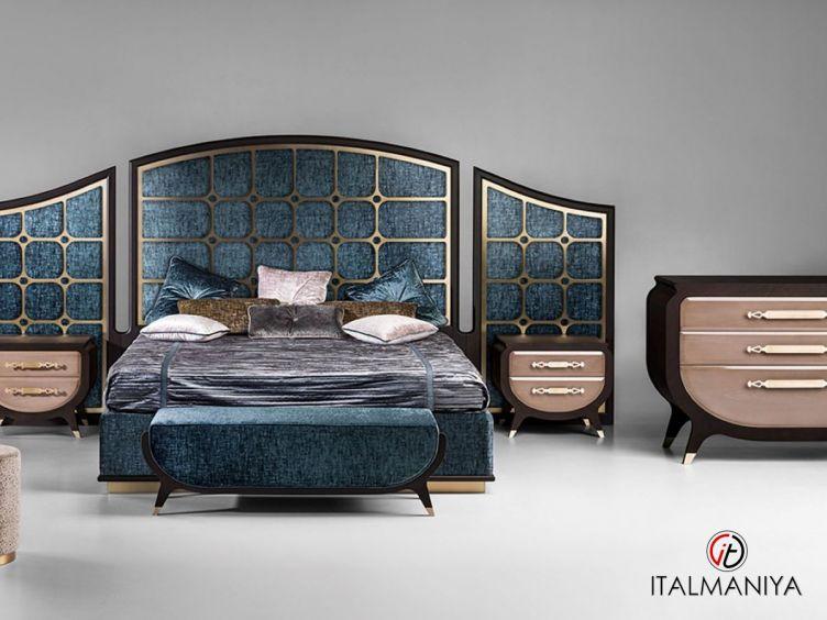 Фото 1 - Спальня Gran duca CVL023 фабрики Prestige (производство Италия) в стиле арт-деко из массива дерева