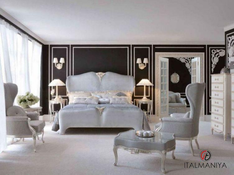 Фото 1 - Спальня Art 3204 фабрики Savio Firmino (производство Италия) в стиле арт-деко из массива дерева