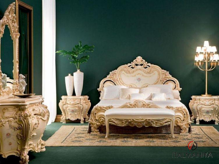 Фото 1 - Спальня Olimpia фабрики Silik (производство Италия) в стиле барокко из массива дерева