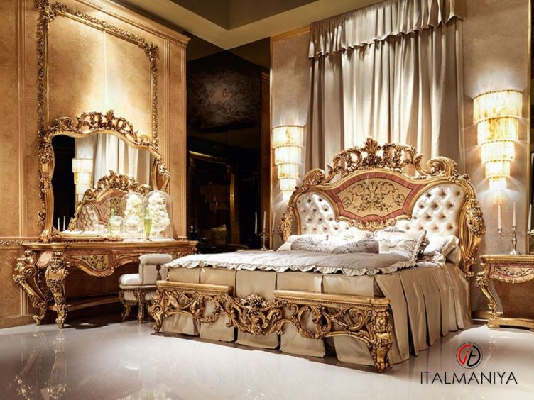 Фото 1 - Спальня Hermitage фабрики Socci Anchise (производство Италия) в стиле барокко из массива дерева