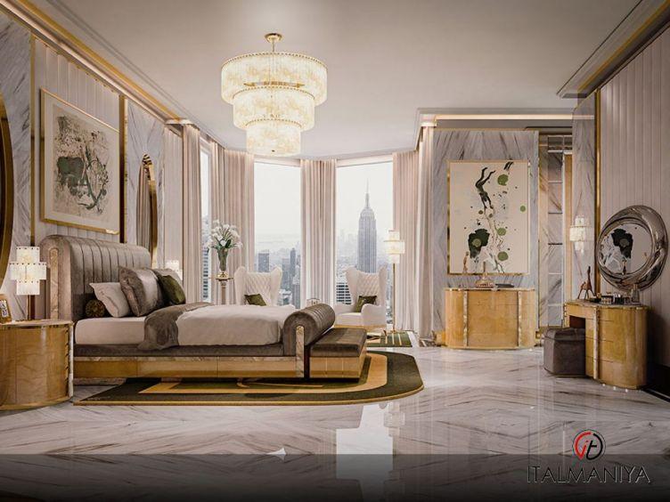 Фото 1 - Спальня Soiree Paris фабрики Socci Anchise (производство Италия) в стиле арт-деко из массива дерева