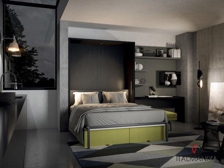 Фото 1 - Спальня С ПОДЪЁМНОЙ КРОВАТЬЮ 250 100972 фабрики Tumidei (производство Италия) в стиле лофт из МДФ
