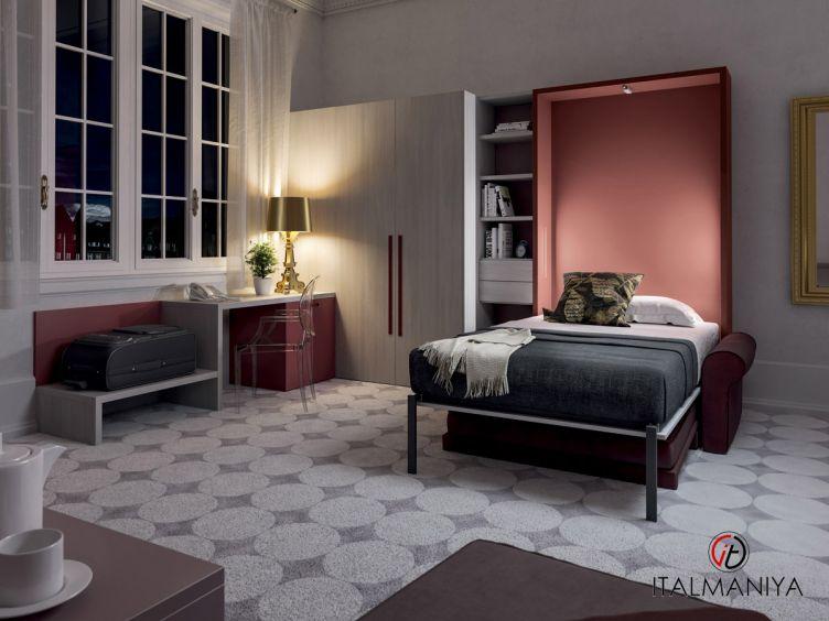 Фото 1 - Спальня с подъемной кроватью 274 фабрики Tumidei (производство Италия) в современном стиле из МДФ