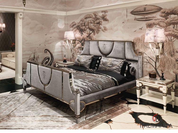 Фото 1 - Спальня Windsor фабрики Visionnaire (производство Италия) в стиле арт-деко из массива дерева