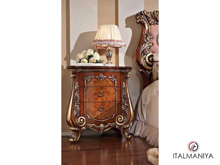 Фото 1 - Тумба прикроватная Ясень / Золото Firenze фабрики Barnini Oseo (производство Италия) в классическом стиле из МДФ