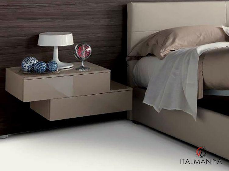 Фото 1 - Тумба прикроватная навесная Air фабрики Fimes (производство Италия) в современном стиле из массива дерева