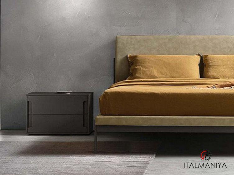 Фото 1 - Тумба прикроватная с ящиками Montgomery фабрики Zanette (производство Италия) в современном стиле из МДФ