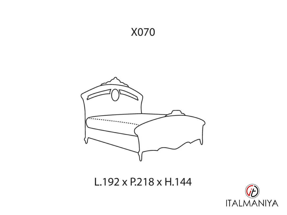 Фото 2 - Спальня Reggenza Luxury фабрики Barnini Oseo